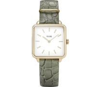 -Uhren Analog Quarz Grün Grün Leder 32005967
