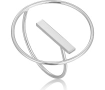 -Damenring Modern Circle Adjustable Ring 925er Silber One Size 88049098