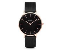 -Uhren Analog Quarz Schwarz/Rosé 32011681