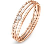 -Ring 925er Silber rhodiniert 1 Zirkonia 54 32011550