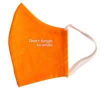 Orange Don't Forget To Smile Mundschutz & Maske