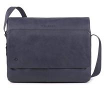 Black Square Messenger Leder 37 cm Laptopfach