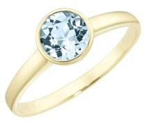 Ring mit Blautopas, Gold 375