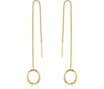 -Ohrhänger Swirl Threader Earrings 925er Silber Gold 32014180