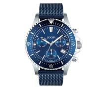 Chronograph für, Edelstahl IP Blue