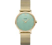 -Uhren Analog Quarz Gold 32014962