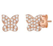 Ohrstecker Schmetterling Sterling Silber Zirkonia