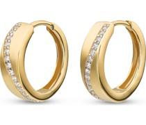 -Creolen 333er Gelbgold 30 Zirkonia One Size 87524221