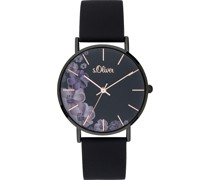 -Uhren Analog Quarz Weiß Weiß Silikon 32003059