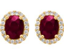 -Ohrstecker 585er Gelbgold 2 Rubin One Size 86476193