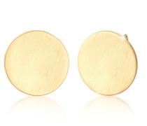 Ohrringe Ohrstecker Geo Kreis Matt Basic Cool 925er Silber