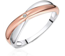 Ring Sterling Silber Diamant silber/roségold