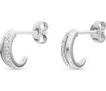 -Ohrstecker 375er Weißgold 14 Diamant One Size 87729435