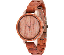 -Uhren Analog Quarz Zebranoholz Holz 32015169
