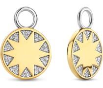 -Creolen 925er Silber Zirkonia One Size 88267036