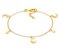 Armband Sterne Astro Halbmond 925 Silber