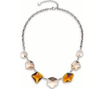 -Kette Edelstahl, Glas One Size 88098765