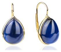 -Ohrhänger 925er Silber Farbstein Grün 32015337 Ohrringe