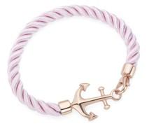 Armband Textil, in rose mit Anker