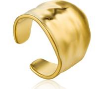 -Damenring Crush Wide Adjustable Ring 925er Silber Gold 32014159