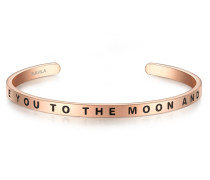 Armband I LOVE YOU TO THE MOON AND BACK Edelstahl roségold