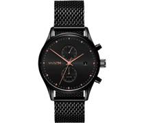 -Uhren Analog Quarz Schwarz/Rosé 32001329