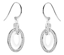 Ovalförmige Diamant-Ohrringe aus Keramik