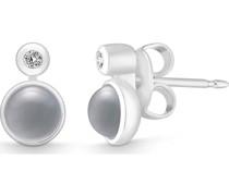 -Ohrstecker 925er Silber Silber/Rosenquarz Silber/Rosenquarz 32011902