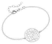 Armband Weltkugel, Travel, Silber 925