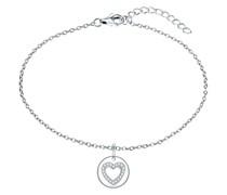 Armband Herz Sterling Silber Zirkonia silber Silberarmband