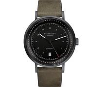 -Uhren Analog Automatik Schwarz Schwarz Leder 32012083