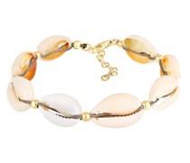 Armband Echte Kauri Muscheln Beach 925 Sterling Silber