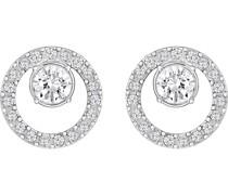 -Ohrstecker Metall Kristalle Silber 32002076