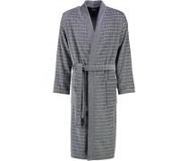 Bademantel Kimono Karo 4846 anthrazit-silber - 70