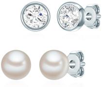 Schmuckset Rosévergoldet mit Kristallen von Swarovski® Perle