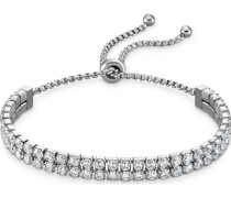 -Armband Armband aus Edelstahl 68 Zirkonia Silber 32012239