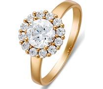 -Damenring 333er Gelbgold 13 Zirkonia 60 32004783