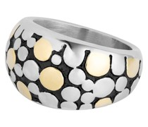 Ring Edelstahl silber/gelbgold