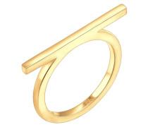 Ring Geo Minimal Blogger Trend Stab 925 Sterling Silber