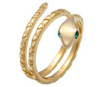 Ring Pinky Schlange Swarovski® Kristalle 925 Silber