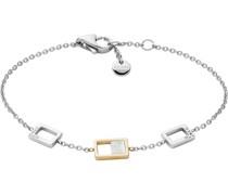 -Armband Edelstahl Perlmutt One Size 88172337