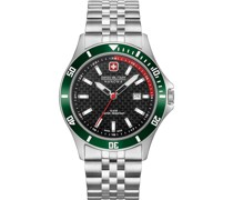 -Uhren Analog Quarz Schwarz/Grün 32011592