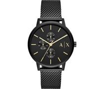 -Uhren Quarz Schwarz Edelstahl 32012060