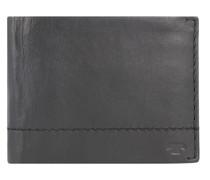 Kai Geldbörse RFID Leder 12 cm Portemonnaies Schwarz