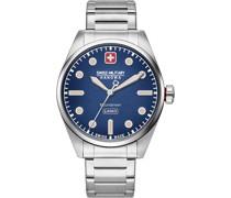-Uhren Analog Quarz Silberfarben/Blau 32012813