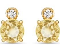 -Ohrstecker 375er Gelbgold 2 Lemoncitrin One Size 87748758