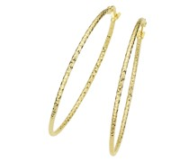 Creolen mit diamantierter Oberfläche, Gold 375