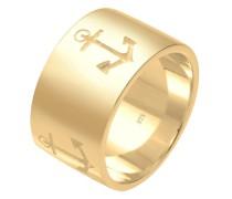 Ring Basic Bandring Symbol Anker Maritim 925 Silber
