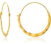 -Creolen Crush Hoop Earrings 925er Silber Gold 32014152