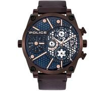 -Uhren Analog Quarz Schwarz Leder 32012280